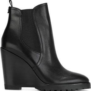 MICHAEL KORS Wedge Leather Ankle Boots